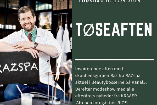 Pigeaften med RAZspa og modeshow: Torsdag d. 12/9 kl. 18-21